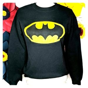 Black and yellow BATMAN sweatshirt